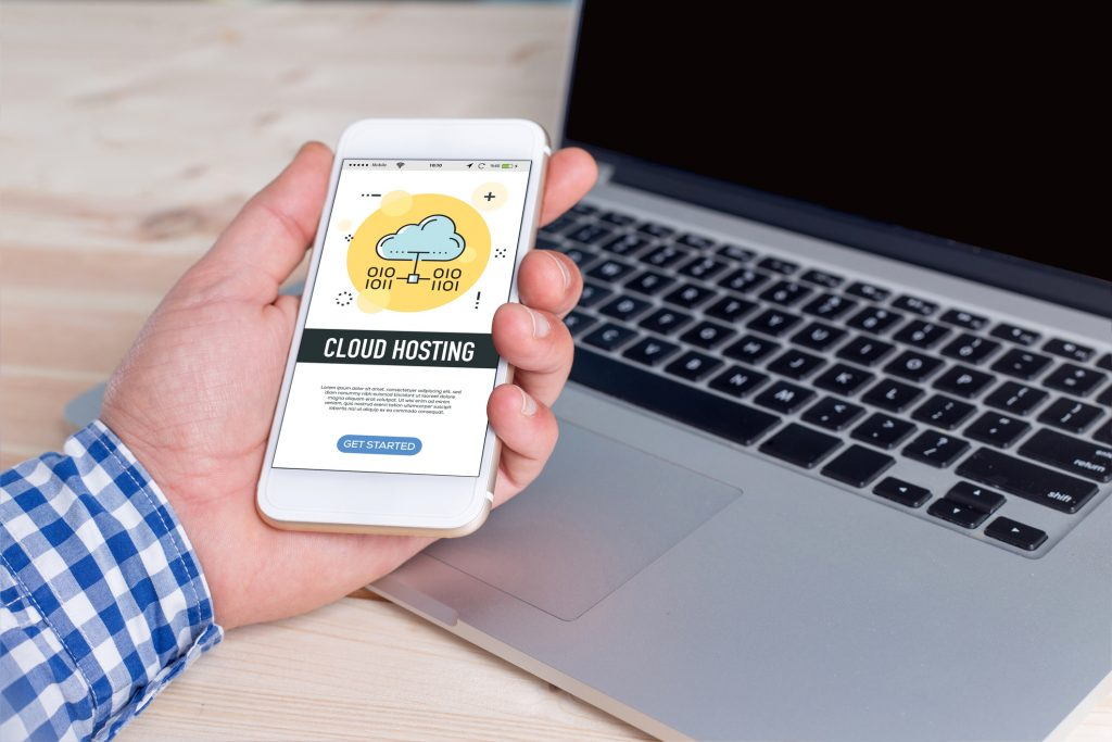 Cloud hosting app on cellphone